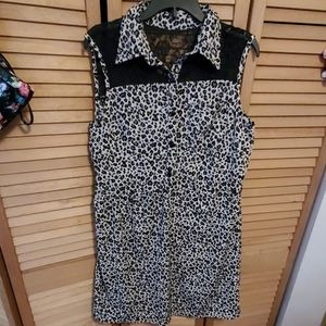 Leopard And Lace Dress